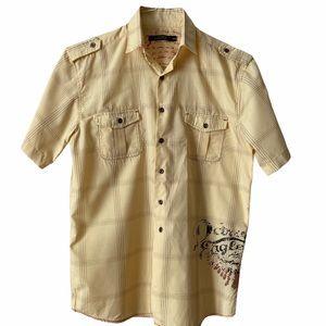 Moto Boys Casual Button Up Yellow Shirt  18/20